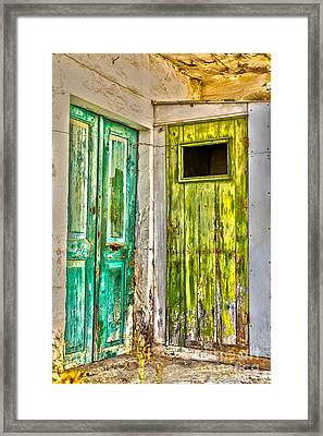 Weathered Doors Framed Print