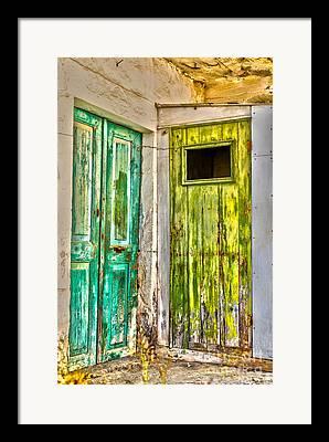 Traditional Doors Digital Art Framed Prints