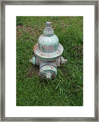 Weathered Fire Hydrant Framed Print