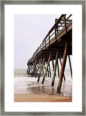Weathered Oceanic Pier  Framed Print
