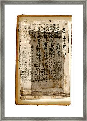 Weathered Pages Framed Print by Carol Leigh