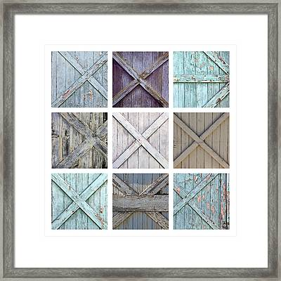 Weathered Paint Framed Print by Art Block Collections