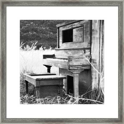 Weathered Piano Framed Print by Mike McGlothlen