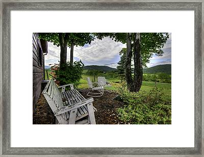 Framed Print featuring the photograph Weathered Rest by Tim Stanley
