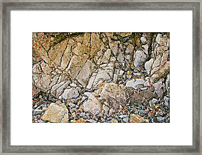 Weathered Rock Face Owlshead Framed Print by Peter J Sucy