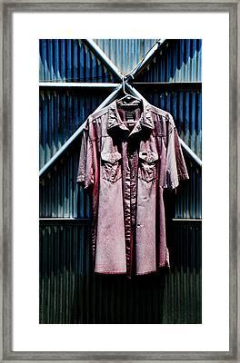 Redd Shirt Framed Print by Leon Hollins III