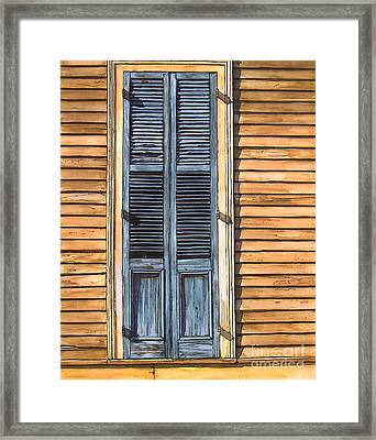 Weathered Shutters Framed Print by John Boles