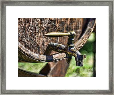 Weathered Tap And Barrel Framed Print
