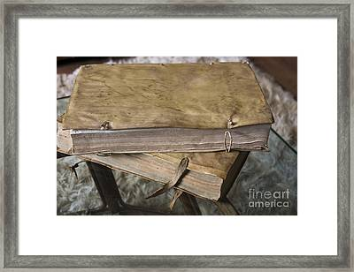 Weathered Tomes Of Old Framed Print