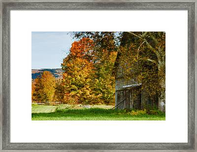 Weathered Vermont Barn  Framed Print