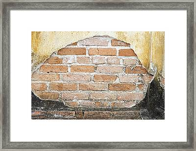 Weathered Wall Framed Print