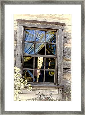 Weathered Window Framed Print