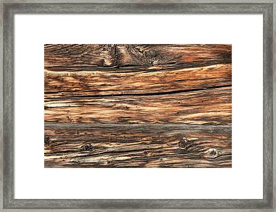 Weathered Wood 6 Framed Print by Charles Lupica