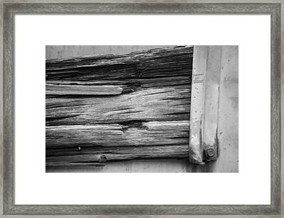 Weathered Wood Framed Print by Toni Hopper