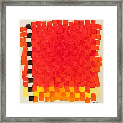 Weave #2 Sunset Weave Framed Print by Thomas Gronowski