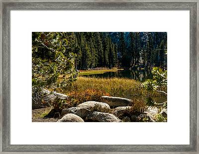 Weaver Lake -1-7682 Framed Print