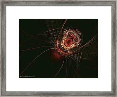Weaver Of Webs Framed Print by Linda Whiteside