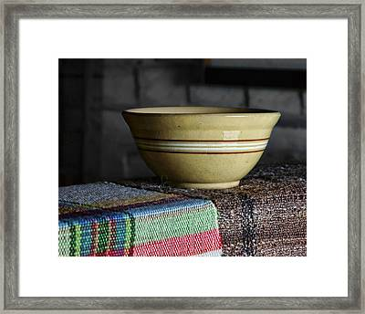 Weaver's Bowl #1 Framed Print by Nikolyn McDonald