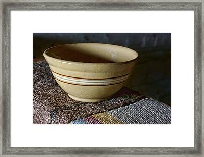 Weaver's Bowl #2 Framed Print by Nikolyn McDonald