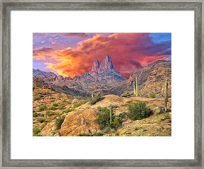 Weavers Needle Framed Print by Dominic Piperata