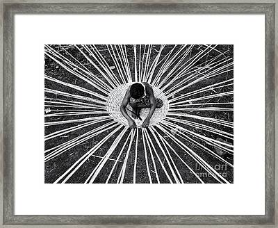 Weaving A Goat Pen Framed Print by Tim Gainey