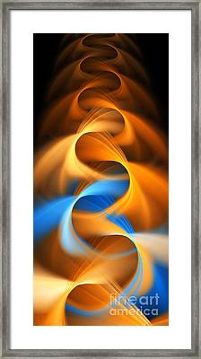 Weaving Color  Framed Print