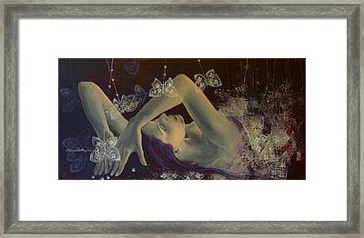 Weaving Lace Wings... Framed Print by Dorina  Costras