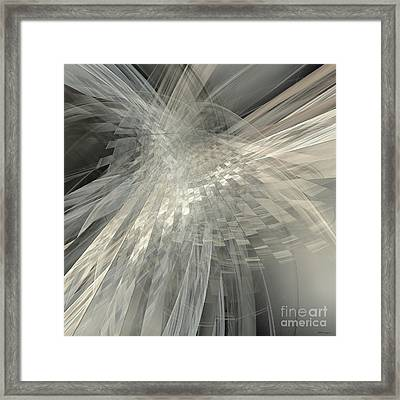 Weaving White And Gray Framed Print by Elizabeth McTaggart