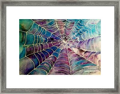 Web Framed Print by D Renee Wilson