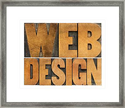 Web Design  Framed Print by Marek Uliasz