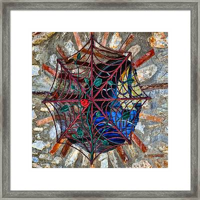 Web For Windows Framed Print