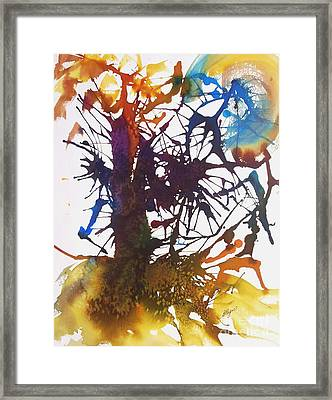 Web Of Life Framed Print by Ellen Levinson
