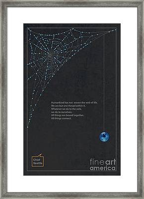 Web Of Life Framed Print by Sassan Filsoof