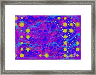 Framed Print featuring the digital art Web Of Love Vi by Ilona Svetluska