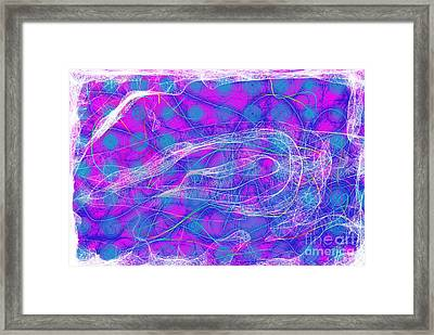 Framed Print featuring the digital art Web Of Love Vii by Ilona Svetluska
