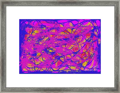 Framed Print featuring the digital art Web Of Love Viii by Ilona Svetluska