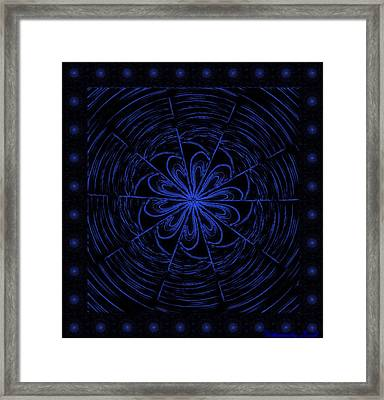 Web String Framed Print
