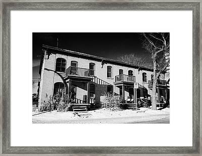 webb block claimed to be the first apartment block in Saskatoon Saskatchewan Canada Framed Print by Joe Fox