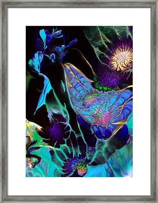 Webbed Galaxy Framed Print by Nan Bilden