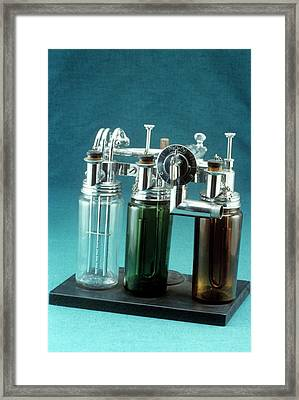 Webber Anaesthetic Machine Framed Print by Science Photo Library