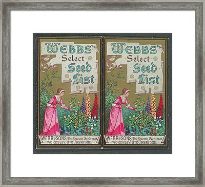 Webbs Select Seed List Framed Print