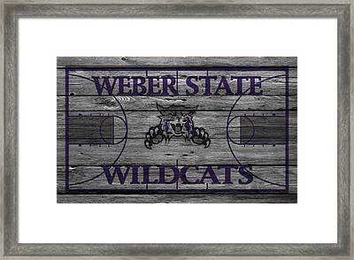 Weber State Wildcats Framed Print by Joe Hamilton