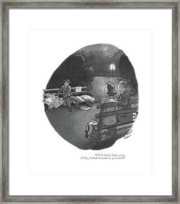 We'd Better Leave Now Framed Print by Richard Decker