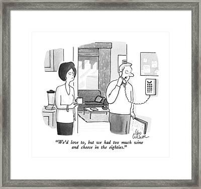 We'd Love Framed Print