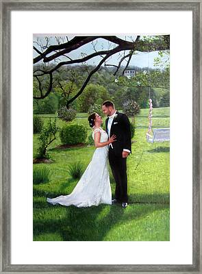 Wedding Framed Print by Anny Huang