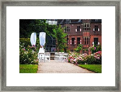 Wedding Arrangement In De Haar Castle. Utrecht  Framed Print by Jenny Rainbow