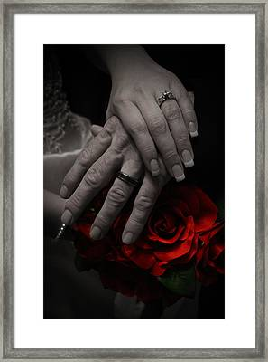 Wedding Bouqet Framed Print by Joel Loftus