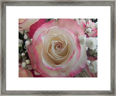 Framed Print featuring the photograph Wedding Bouquet by Deb Halloran