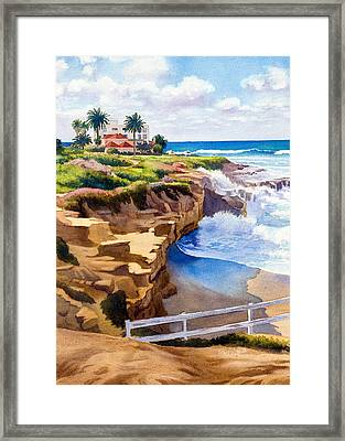 Wedding Bowl La Jolla California Framed Print by Mary Helmreich