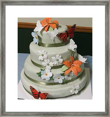 Wedding Cake For April Framed Print by Fortunate Findings Shirley Dickerson